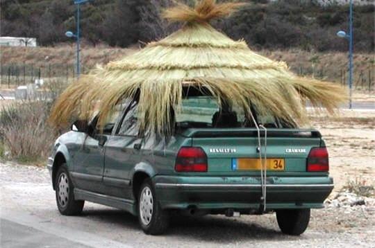 Parasol sur voiture